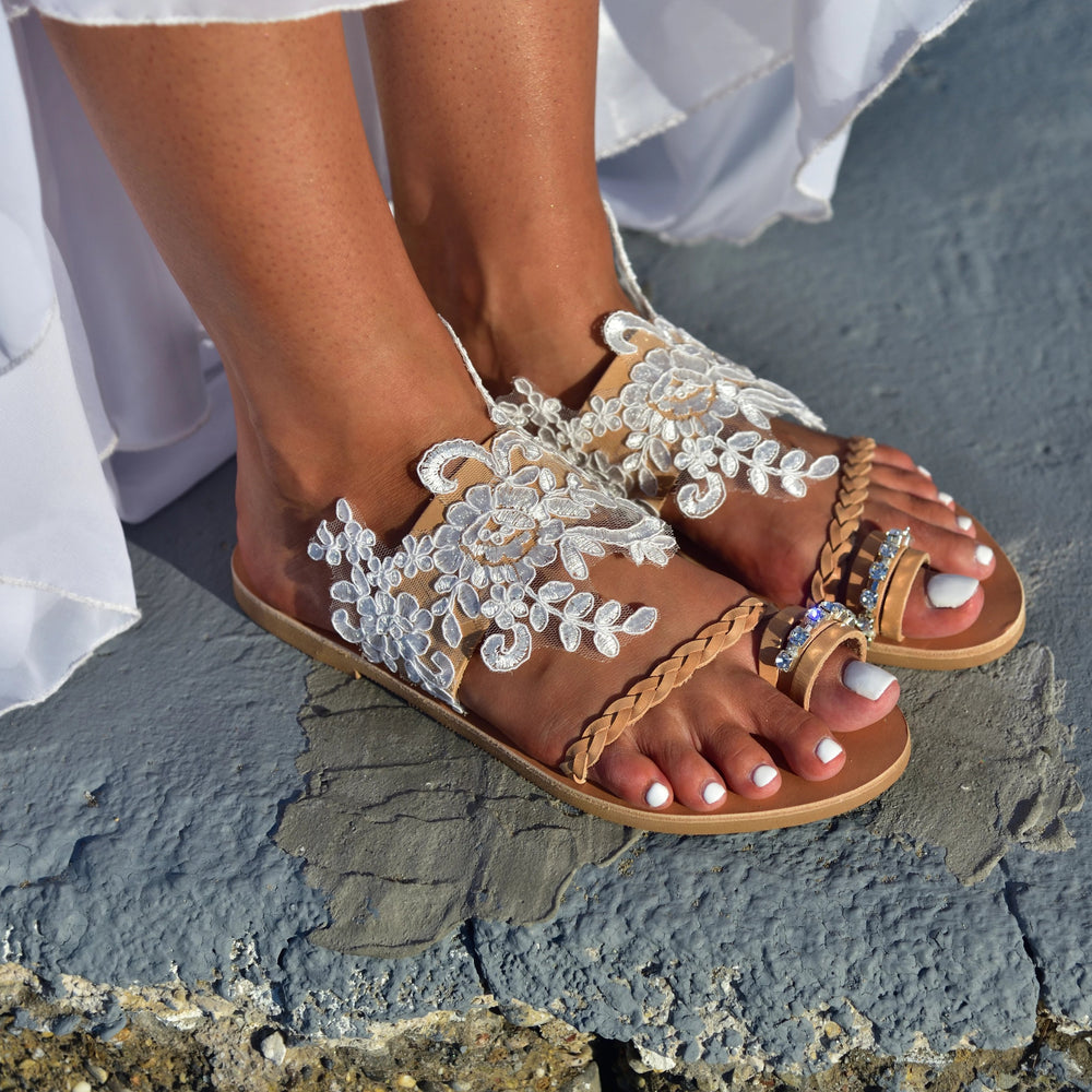 Aganippi sandals made in greece