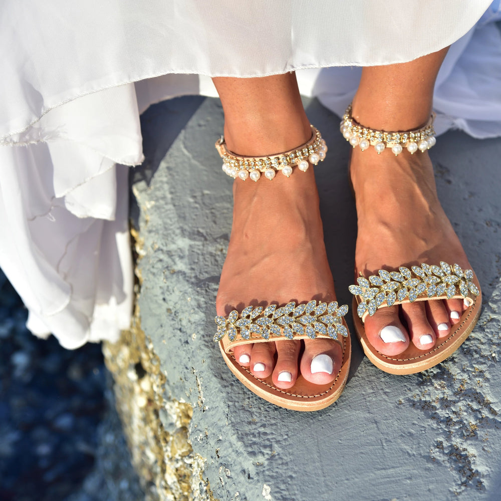 wedding sandals made in Greece