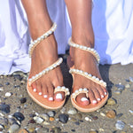 bridal sandals, wedding leather shoes, flat wedding shoes