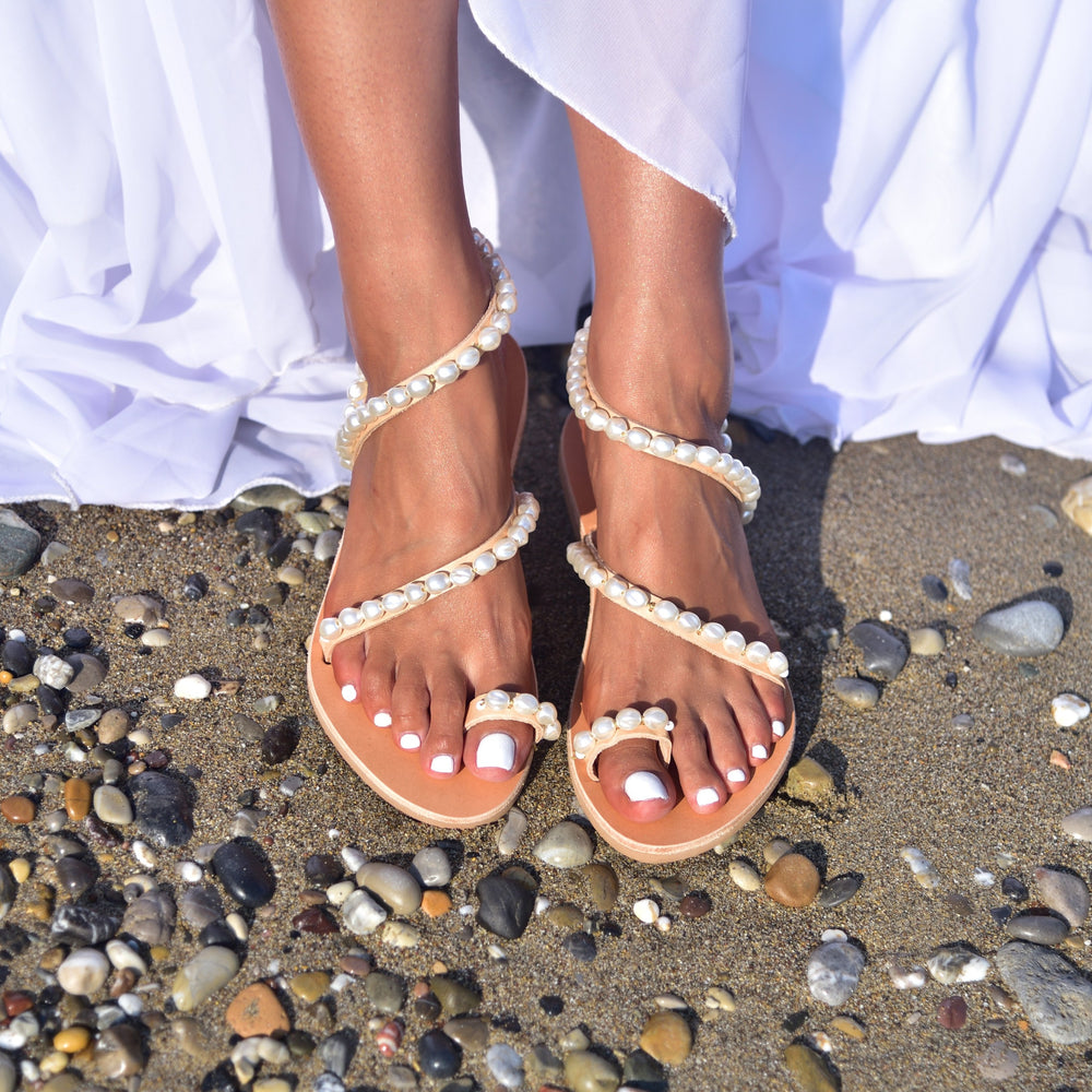 wedding sandals, bridal shoes, wedding shoes pearl