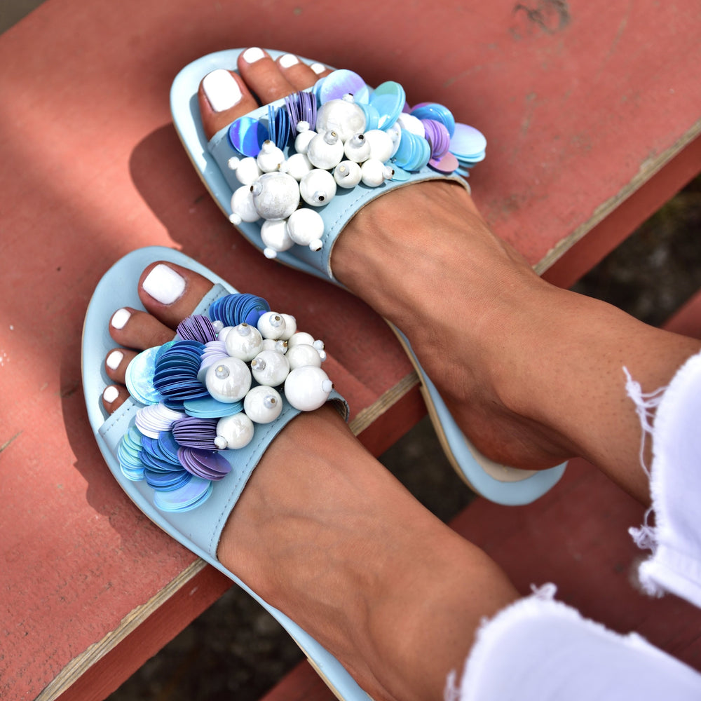 blue sandals for women