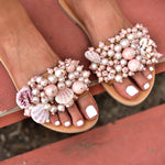 wedding sandals pink, slides sandals, slides for women