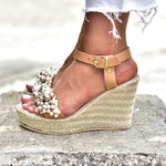 wedding wedges, wedding heels ivory
