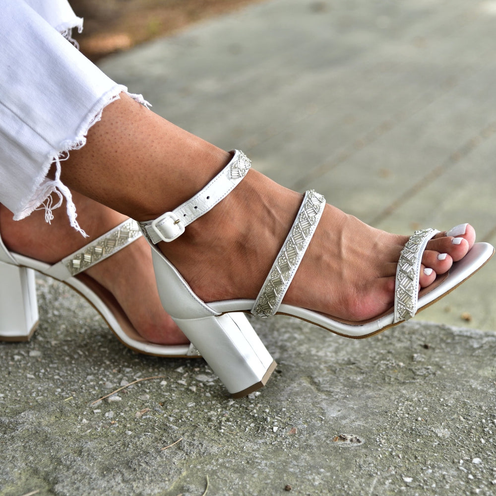 block heel sandals, wedding heels