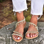 pearl wedding sandals