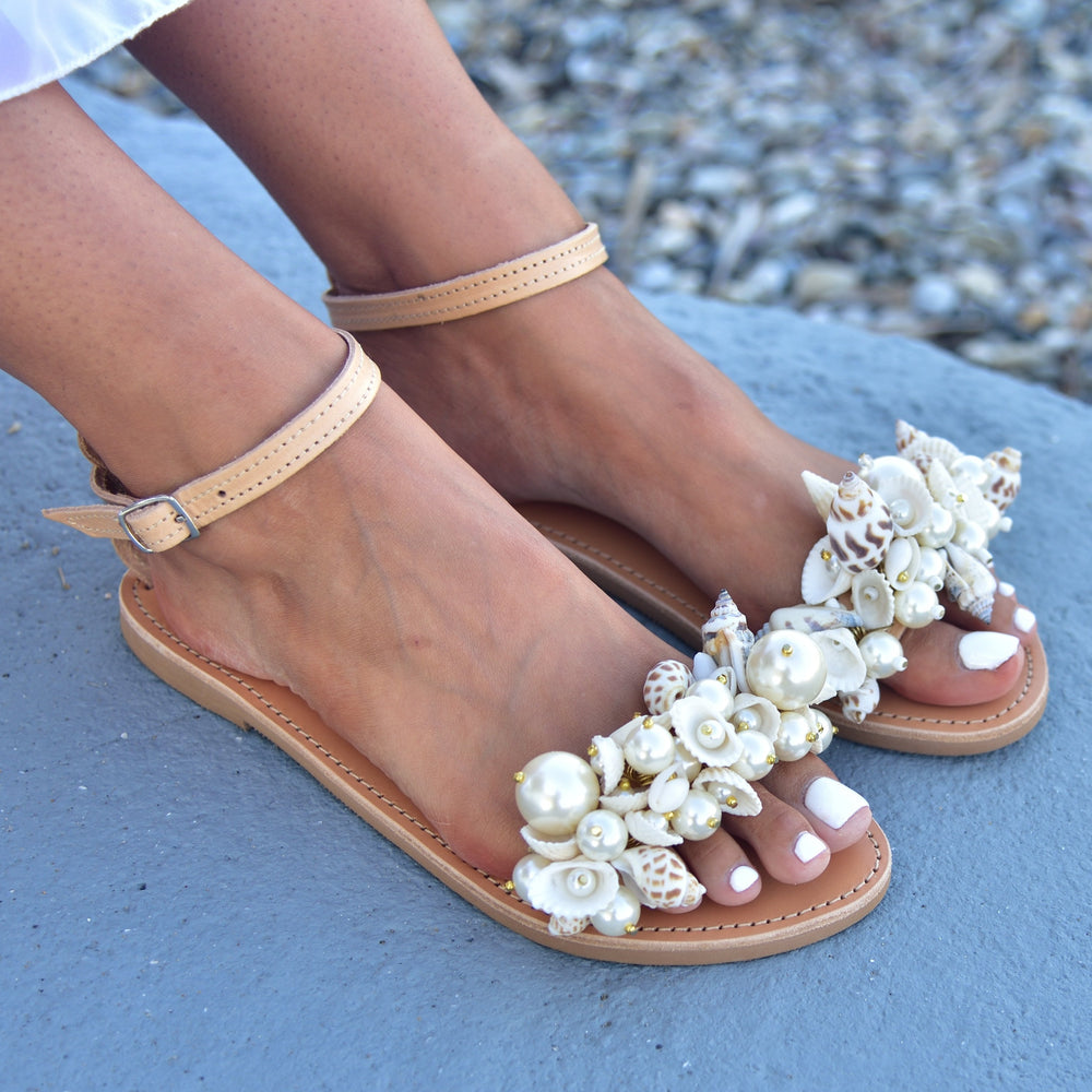 sandals with shells
