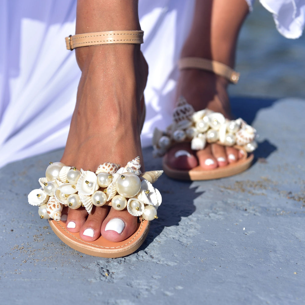 sandals for a boho wedding - sandals with shells
