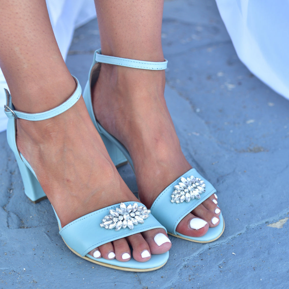 wedding sandals blue