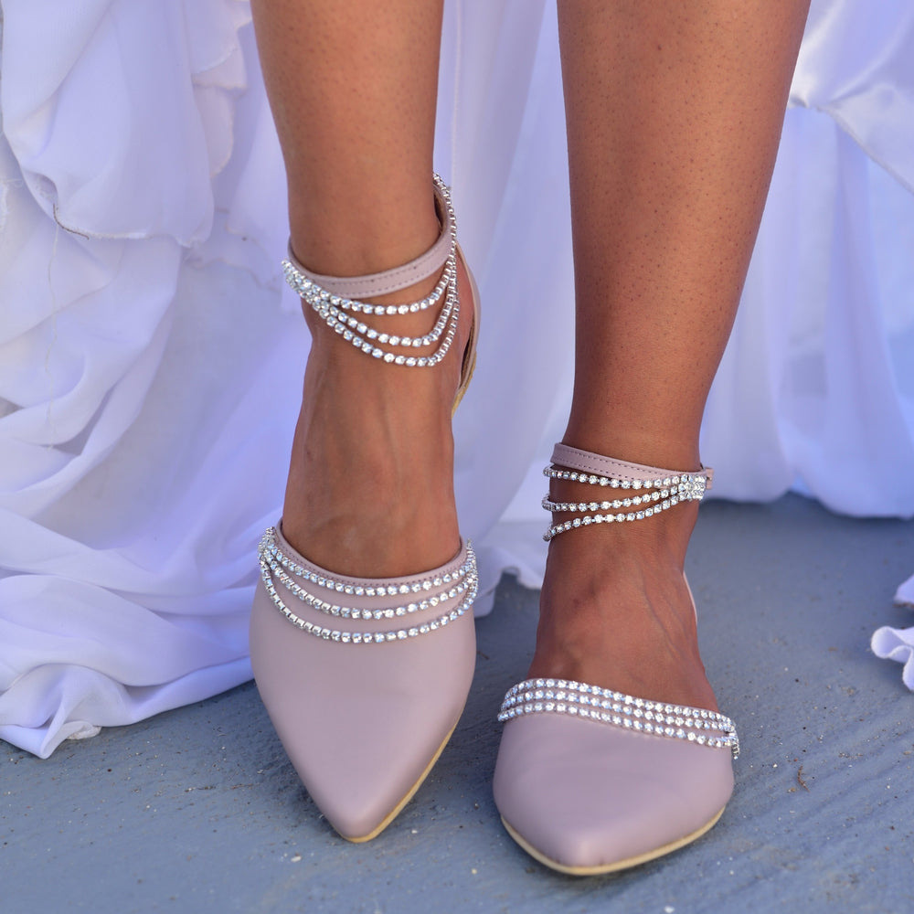 bridal shoes,  wedding shoes nude