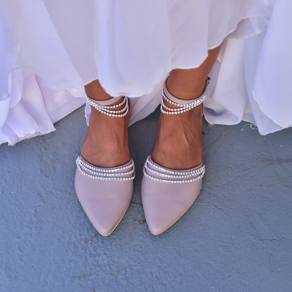 wedding flats, Ankle Strap Sandals