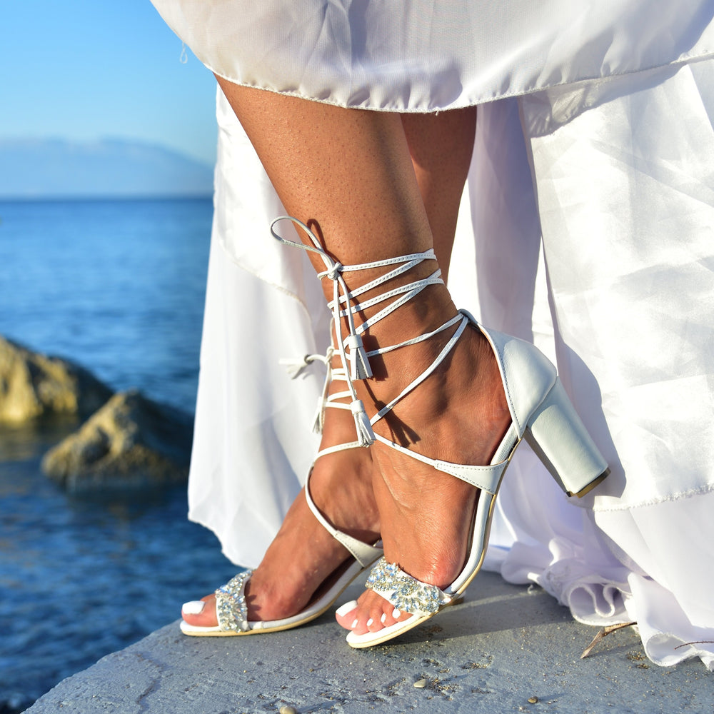 wedding sandals for boho wedding
