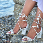 Wedding heel sandals - Block heel sandals