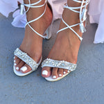 wedding sandals - bridal sandals - wedding heel sandals