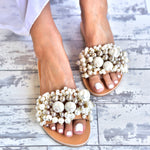 wedding pearl sandals - wedding shoes - pearl sandals