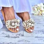 wedding shoes - pearl sandals