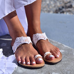 wedding leather sandals