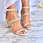 wedding sandals - bridal sandals - handmade sandals