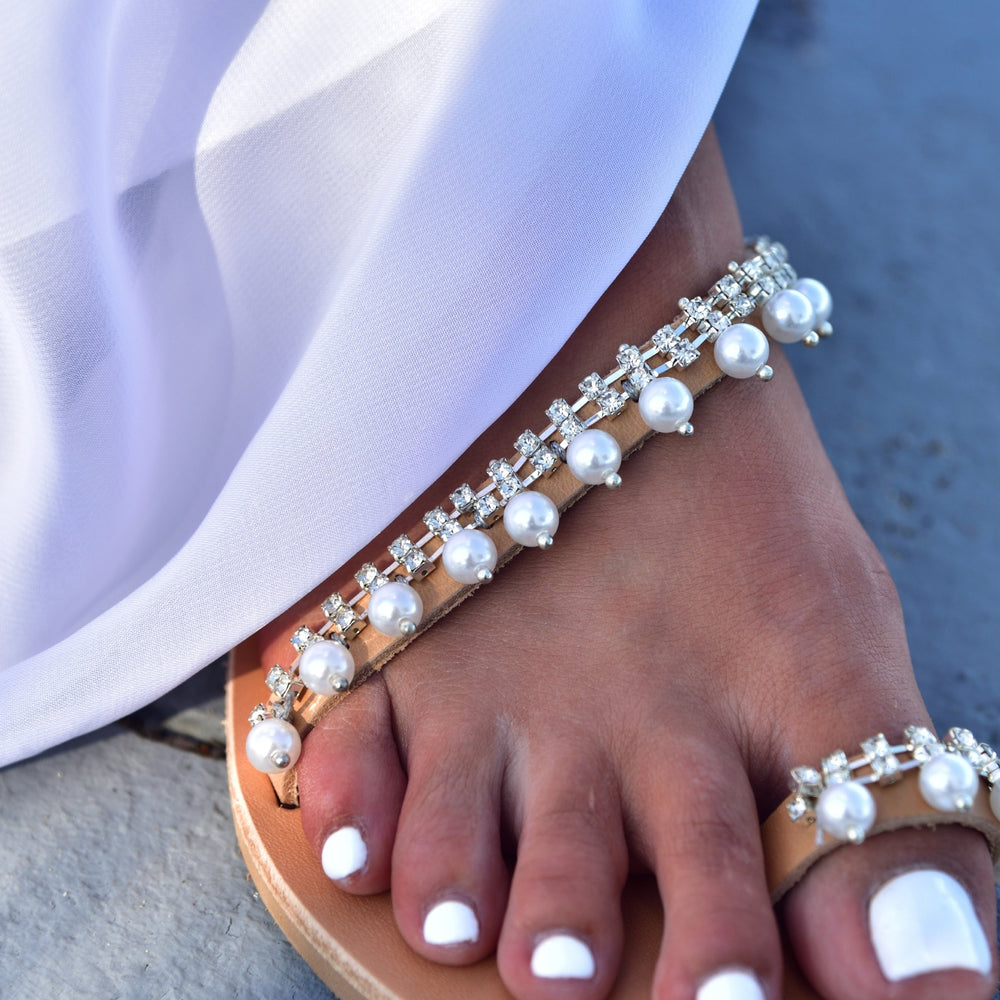 wedding sandals, bridal shoes