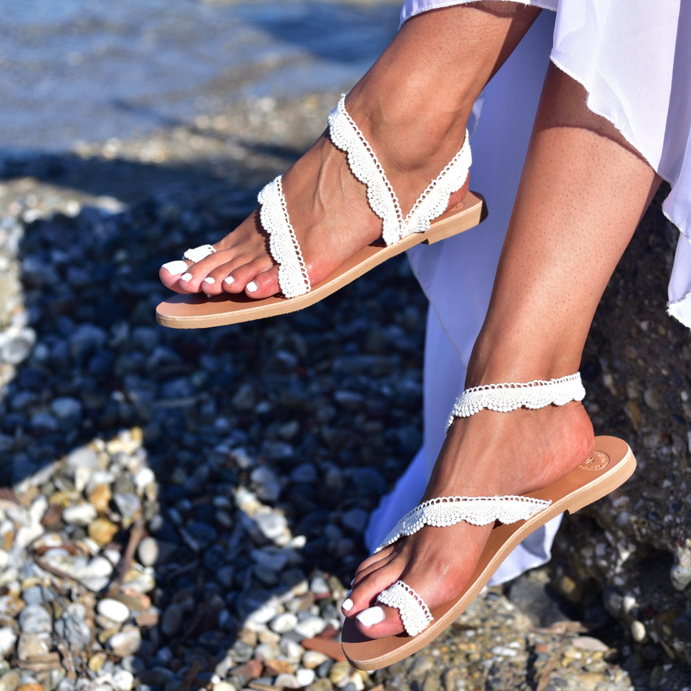 Wedding white flats