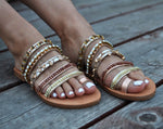 Cleopatra leather sandals