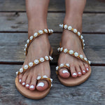 wedding sandals pearl, bridal shoes