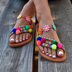 sandals made in greece