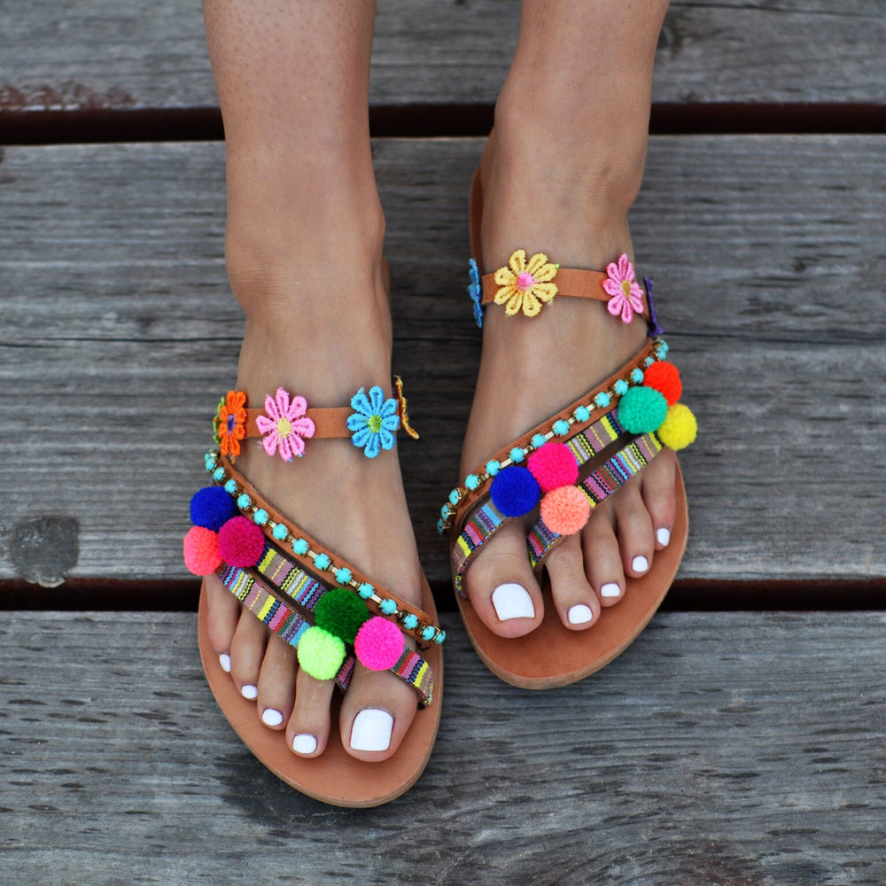 handmade greek sandals, summer sandals