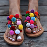 trendy summer sandals, colorful sandals