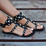 Bellatruk, Black bohemian sandals
