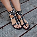 Bellatruk, Black bohemian sandals online