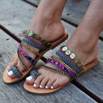 bohemian flat sandals, sandals for women, sandals made in greece