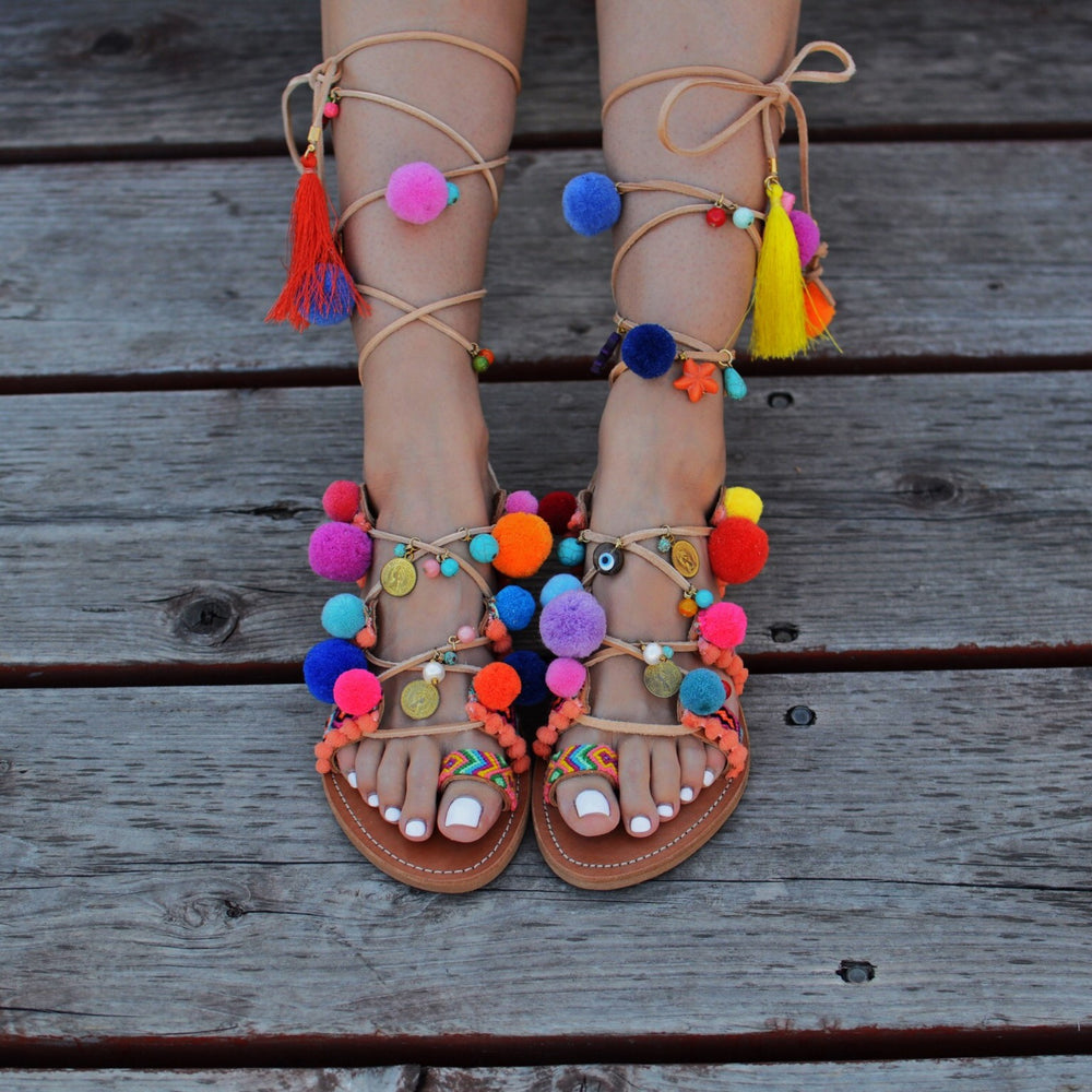 Bohemian Spirit - sandals with fancy colors