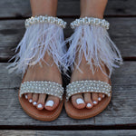wedding sandals, wedding leather shoes, flat wedding shoes