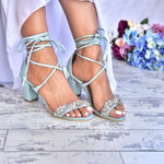 Blue wedding shoes - wedding heels - blue sandals