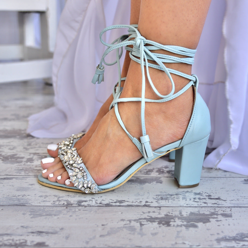 wedding heeled sandals