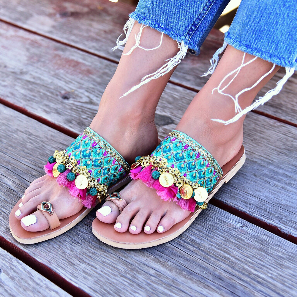 Belly Dance - sandals made in greece