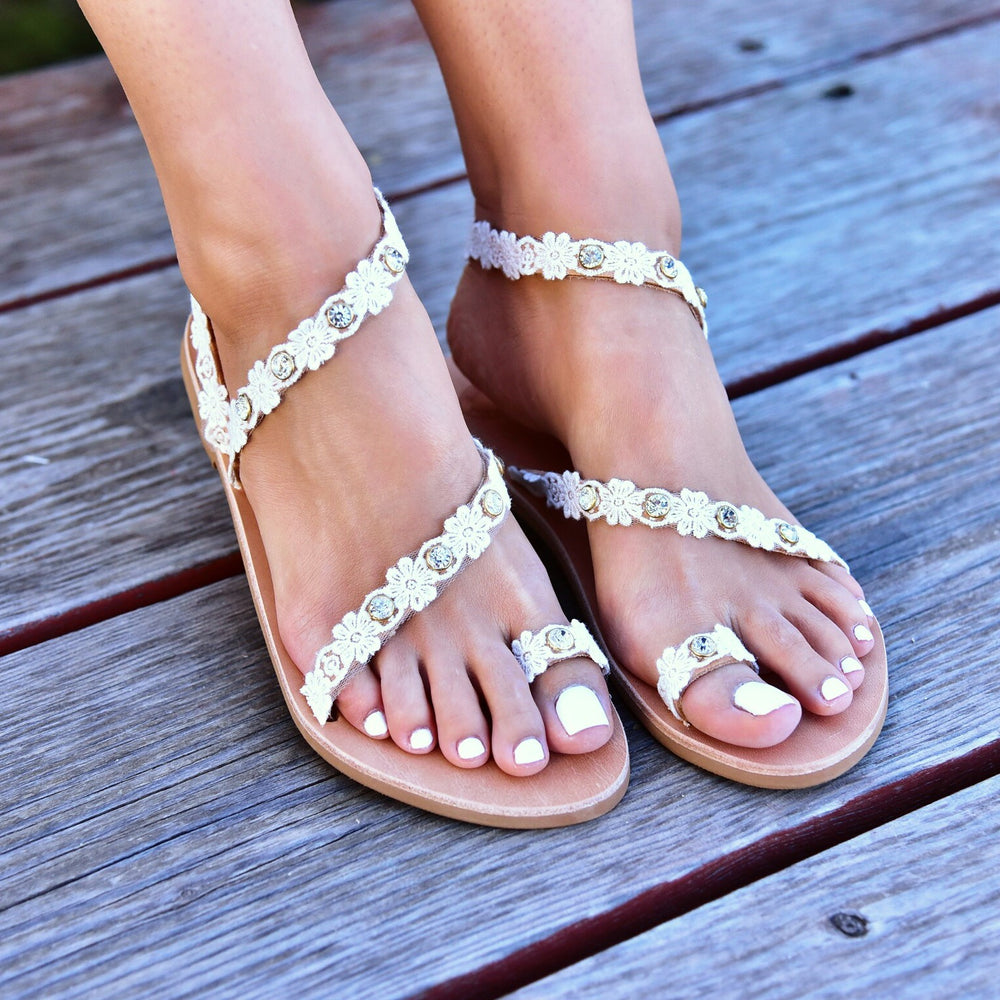 bridal sandals, wedding leather shoes