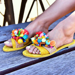 Colombiana yellow sandals