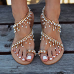 Caliope - wedding flat sandals