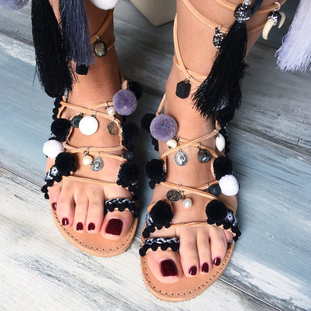 Black Orchid - bohemian style sandals