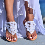 wedding lace sandals