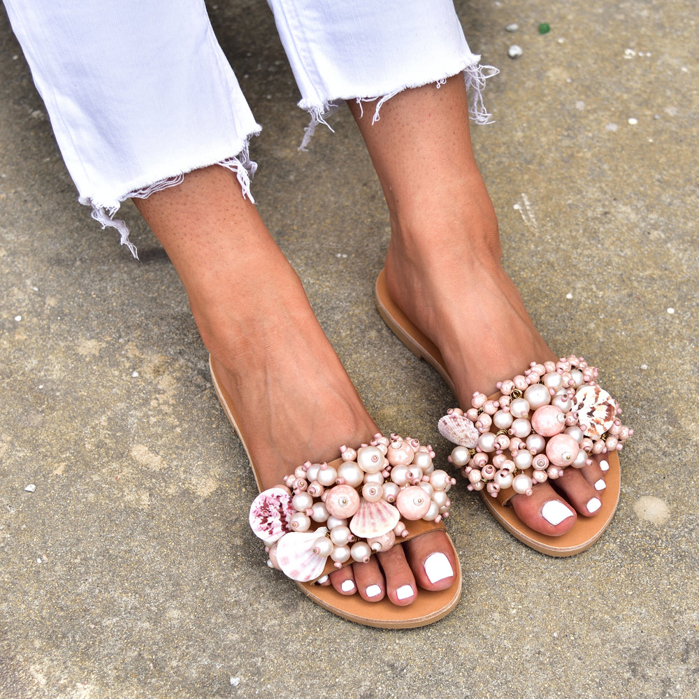 leather sandals, handamde sandals, pink sandals