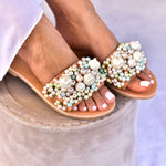 wedding shoes for bride, slides for women, women's slide sandals