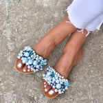 something blue sandals, boho sandals, blue sandals
