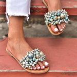 slides sandals, slides for women, women's slide sandals, boho sandals