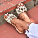 wedding pearl sandals, sandals for women