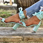 wedding shoes. bridesmaids shoes, mint sandals