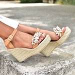 wedding sandals, pearl sandals, wedding heels