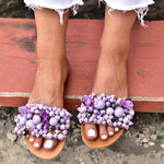 Sandals lilac, handmade sandals, leather sandals, women sandals