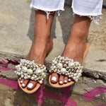 wedding sandals, pearl sandals, bridal shoes,  wedding shoes